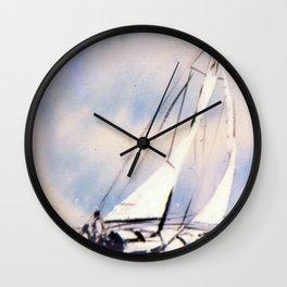 Sydney  to Hobart  Yacht Race        by Kay Lipton Wall Clock