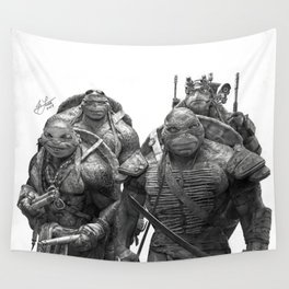 Green Teenage Heroes Wall Tapestry