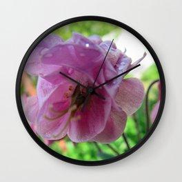Rose drops Wall Clock
