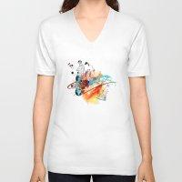 sketch V-neck T-shirts featuring Sketch by Adriana Bermúdez