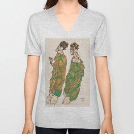 "Egon Schiele ""Devotion"" Unisex V-Neck"