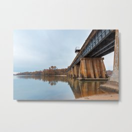 Rustic Leesylvania Bridge Metal Print