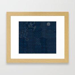 Sashiko - random sampler Framed Art Print