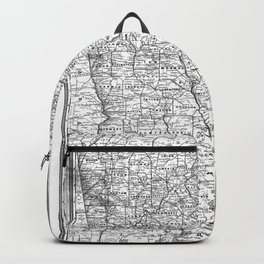 Vintage Map of Georgia (1883) BW Backpack