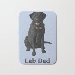 Lab Dad Black Labrador Retriever Bath Mat