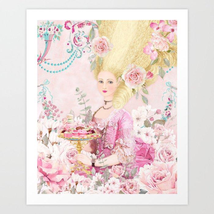 Marie Antoinette Flower Tea Art Print