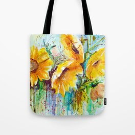 bouquet of sunflowers Tote Bag