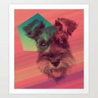 schnauzer Art Prints featuring Schnauzer by MOSAICOArteDigital