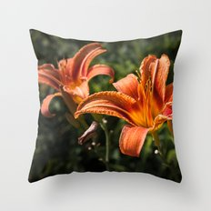 Fire lily Throw Pillow