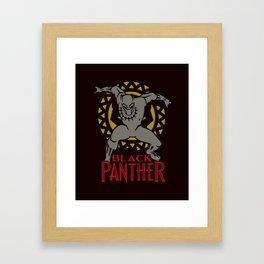 Black Panther  Warrior Framed Art Print