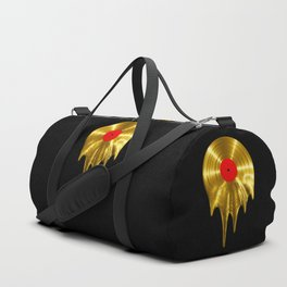 Melting vinyl GOLD / 3D render of gold vinyl record melting Duffle Bag