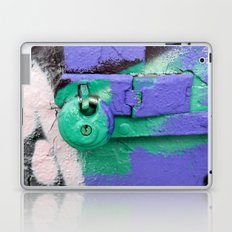 Purple and green lock Laptop & iPad Skin
