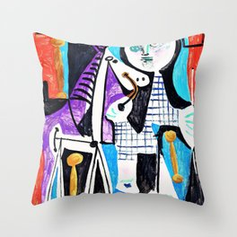 12,000pixel-500dpi - Pablo Picasso - Claude at two years old - Digital Remastered Edition Throw Pillow
