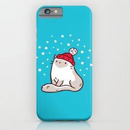 Cat Watching Snowfall iPhone Case