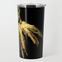 Black and gold retro fashion sketch Travel Mug