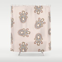 Jewelbox: Morganite Brooch in Light Blush Shower Curtain