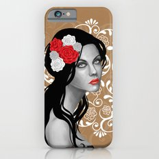 Goth Girl with Flowers in her Hair Slim Case iPhone 6s