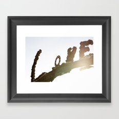 All we need is  Framed Art Print