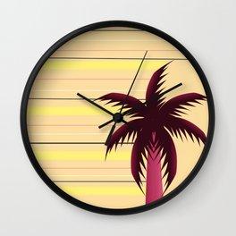 Palm tree and stripes Wall Clock