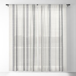 AEGEAN GREY STRIPE Sheer Curtain