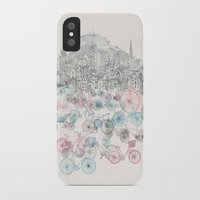 bikes iPhone & iPod Cases featuring Old Town Bikes by David Fleck