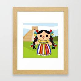 Maria 2 (Mexican Doll) Framed Art Print