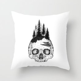 Flourishing Decay Throw Pillow