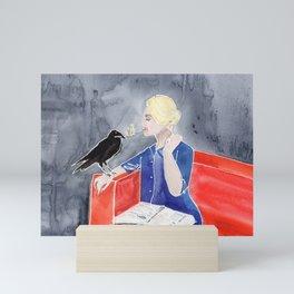 Tippi Hedren & a Crow Mini Art Print