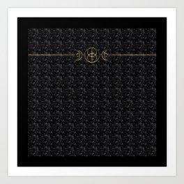 The Goddess Circle - Obsidian Black Art Print