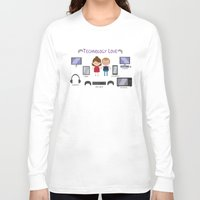 technology Long Sleeve T-shirts featuring Technology Love by Juliana Motzko