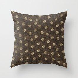 Edelweiss -  alpinestar, stella alpina, Throw Pillow
