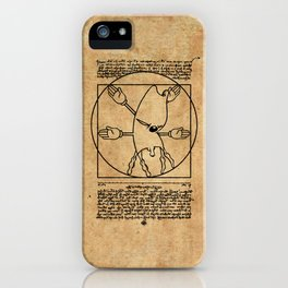 Vitruvian Gerbil iPhone Case