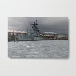 Warship Metal Print
