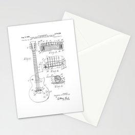 Vintage Patent Print 1955 Rock Guitar Stationery Cards
