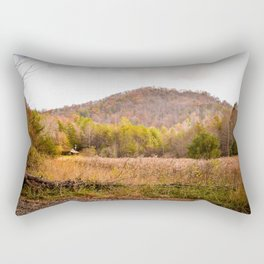 Hidden Cabin in the Mountains Rectangular Pillow
