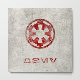 StarWars Galactic Empire - Obey (Red) Metal Print