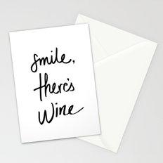 Smile - Wine Stationery Cards