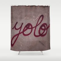 yolo Shower Curtains featuring Yolo by HMS James