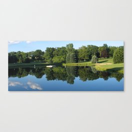 campground realistic pond 2, mugs Canvas Print