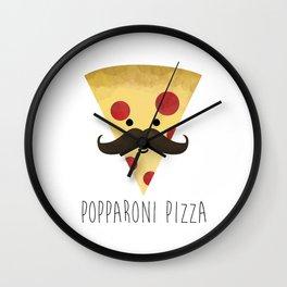 Popparoni Pizza Wall Clock
