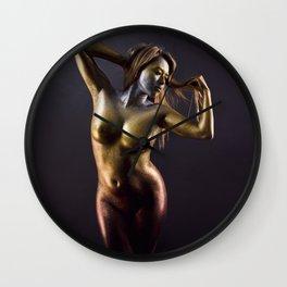 Golden Veins - Glitter Series Wall Clock