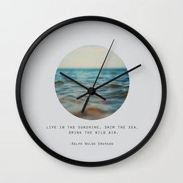 Swim The Sea #2 Wall Clock
