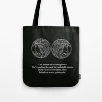 lorde Tote Bags featuring Lorde // Ribs  by Fan Merch