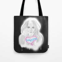 britney Tote Bags featuring Britney Jean by IssaBlack