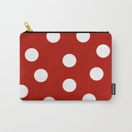 Polka Dots - Mordant Red and White Carry-All Pouch