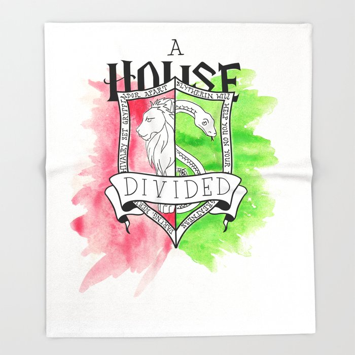 Wizard House Divided {Daring & Sly} Throw Blanket