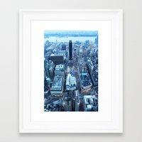 manhattan Framed Art Prints featuring Manhattan by Joanna Dickinson