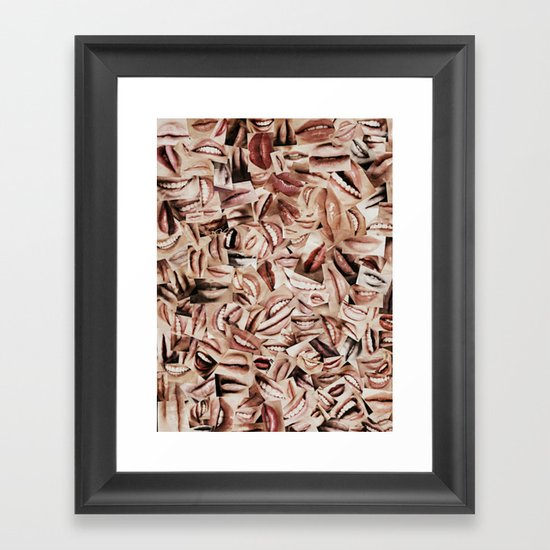 Speak Framed Art Print