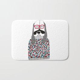 Hipster dog  Bath Mat