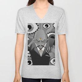 third eye mentalist with eyes background Unisex V-Neck